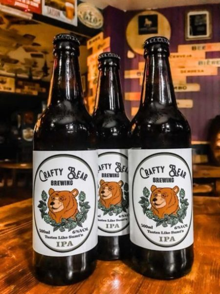 image of Crafty Bear IPA bottles
